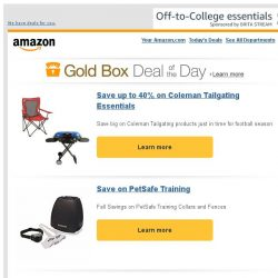 [Amazon] Save up to 40% on Coleman Tailgating Essentials