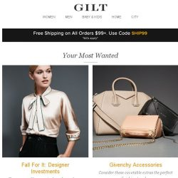 [Gilt] Fall For It: Designer Investments, Givenchy Accessories and More Start Now