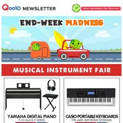 [Qoo10] Music & Art Make Kids Smarter ~ Check Out Our Selection Of Pianos & Faber Castell WaterColour Promo