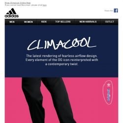 [Adidas] Climacool: A Symbol Of Fearless Expression.