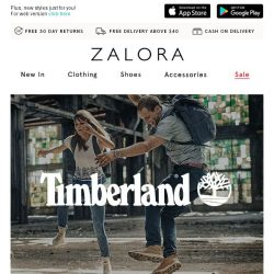 [Zalora] EXTRA 15% off Timberland: Take on the streets!
