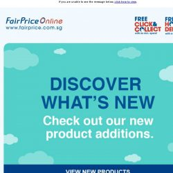 [Fairprice] What's New at FairPrice Online!