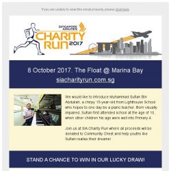 [Singapore Airlines] Register for SIA Charity Run | Special rates till 30 Sep
