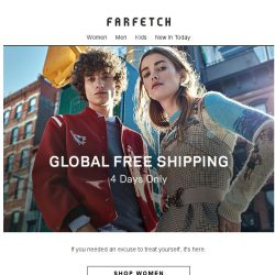[Farfetch] Free Shipping is here Bargainqueen | 4 days only