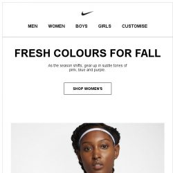 [Nike] Fresh Colours for Your Style