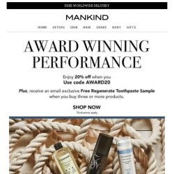 [Mankind] Last Chance | Save 20% inside PLUS a free gift