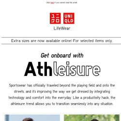 [UNIQLO Singapore] It's about time you get onboard.