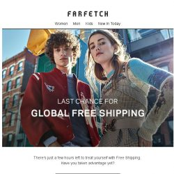 [Farfetch] Bargainqueen, it's your last chance for Free Shipping