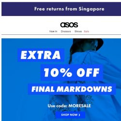 [ASOS] Extra 10% off final reductions