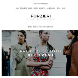 [Forzieri] Final hours // Back to School VIP - Private code inside