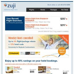 [Zuji] Monday blues cancelled! Top hotels fr only $89.