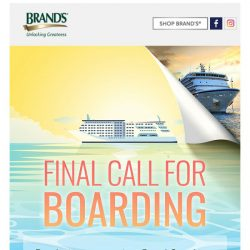[Brand's] Find out who's leading to get a FREE Royal Carribean Cruise Holiday!