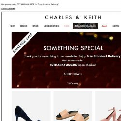 [Charles & Keith] Final Few Days | Something Special