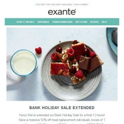 [Exante Diet] Bank Holiday SALE Extended...