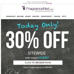 [FragranceNet] [today only] 30% off