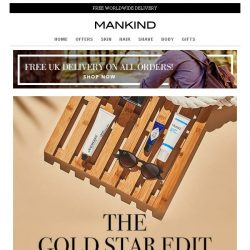 [Mankind] The Gold Star Edit | Save 20% inside PLUS Free Gift