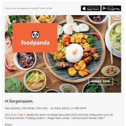[Foodpanda] The most sedap deals in town!