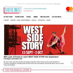 [SISTIC] WIN tickets to catch WEST SIDE STORY!