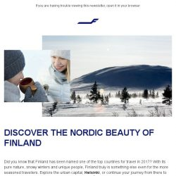 [Finnair] Explore Finland, one of the top countries in 2017