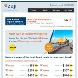 [Zuji] SCOOT off with great deals + enjoy a 5% coupon code!