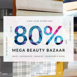 Luxasia: The Mega Beauty Bazaar Warehouse Sale 2017 Up to 80% OFF Haircare, Fragrances, Makeup & Skincare