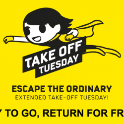 Scoot: Extended Take Off Tuesday - Pay to Go, Return for FREE!