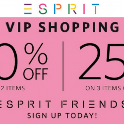 Esprit: Members Enjoy Up to 25% OFF Full Priced Items In Stores & Online