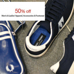 Isetan Scotts: 50% OFF Fred Perry Men's & Ladies' Apparel, Accessories & Footwear