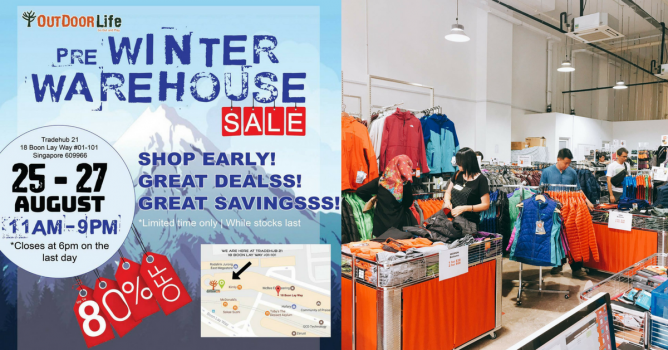 best service 8dae6 d2430 Outdoor Life: Pre Winter Warehouse Sale 2017 with Up to 80 ...