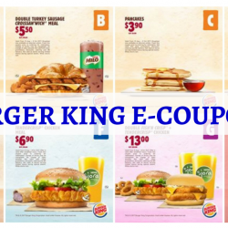 Burger King: Save up to $9 with e-Coupons!
