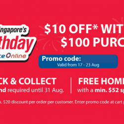 NTUC FairPrice: Coupon Code for $10 OFF with Every $100 Purchase Online