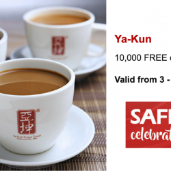 Ya Kun Kaya Toast: 10,000 FREE Cups of Coffee/Tea Exclusively for Safra Members