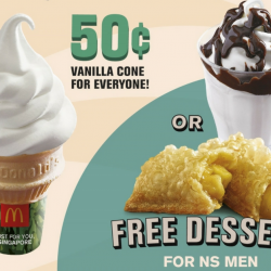 McDonald's: Enjoy Vanilla Cones at Just 50 Cents Each & NS Men Enjoy FREE Sundae or Apple Pie