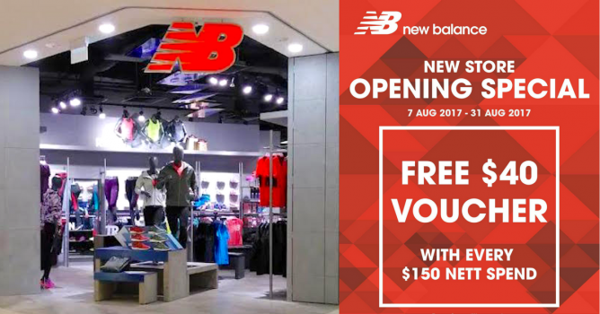 New Balance: New Store Opening Special with FREE $40 Voucher at ...