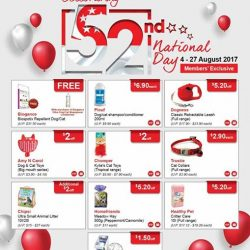 [Pet Lovers Centre Singapore] Dear Pet Lovers, you're invited to celebrate National Day with us!