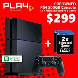 [GAME XTREME] Preowned PS4 Bundle【PROMO DURATION】 While Stocks Last!