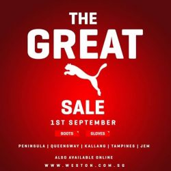 [WESTON CORP] The Great Puma Sale At All Weston Stores And Online Remember The Date 1st September (Friday) Stay Tuned For More