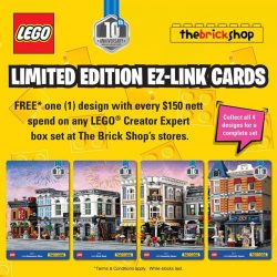 [The Brick Shop] Take a trip to the Assembly Square with these Limited Edition EZ-Link Cards.