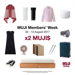 [MUJI Singapore] Shop to your heart's delight with x2 MUJI$ till 13 August!