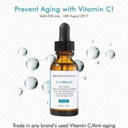[ClearSK® Medi-Aesthetics] Trade in any of your Vitamin C/ Anti-aging serum bottle at our ClearSK outlets and receive a $20 SkinCeuticals