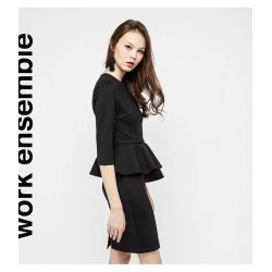 [OSMOSE Singapore] Peplum Sleeved Dress | Sits smoothly on the skin and offers a figure-flattering fit that will keep you comfortable from