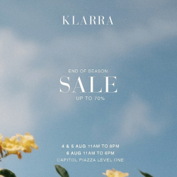 [Cheryl W Wellness & Weight Management] Shop till you drop this weekend at Klarra End of Season Sale!