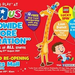 "[Babies'R'Us] Come join us at the Official Grand Re - Opening of the fully revamped Toys""R""Us Store at Tampines mall!"