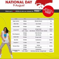[Amore Fitness] Join in the National Day celebration with us!
