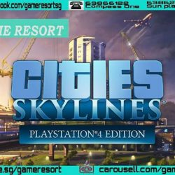 [GAME RESORT] PS4 Cities Skylines Playstation 4 Edition,Cities: Skylines brings back classic management gameplay with an endless sandbox and new ways