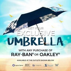 [Capitol Optical] Get your exclusive umbrella when you purchase Ray Ban or Oakley eyewear.