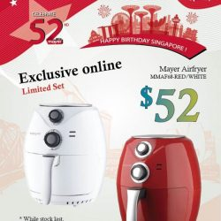 [MAYER] Let's celebrate this 52nd National Day with Mayer RED & WHITE Sales that exclusive on Mayer Shoponline from 01 August