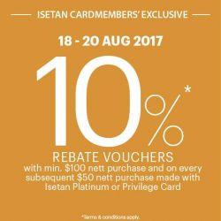[Isetan] Exclusive for Isetan Cardmembers!