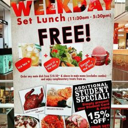 [Lenas ] Weekday lunch promotion at paya lebar square Lenas.