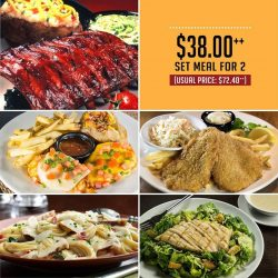 [Tony Roma's] For a limited time only, enjoy a Half Slab of Baby Back Ribs and a choice of Southwestern Chicken, Fish &